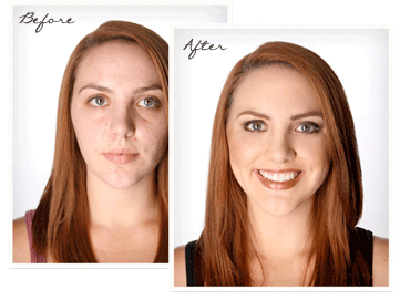 airbrush makeup pics before and after