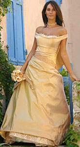 Golden Wedding Gown