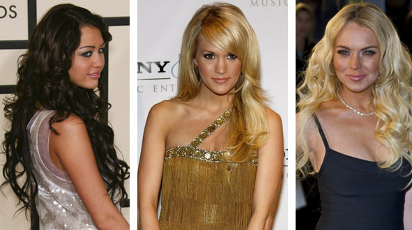 celebrities with hair extensions