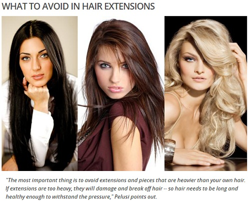 WHAT TO AVOID IN HAIR EXTENSIONS
