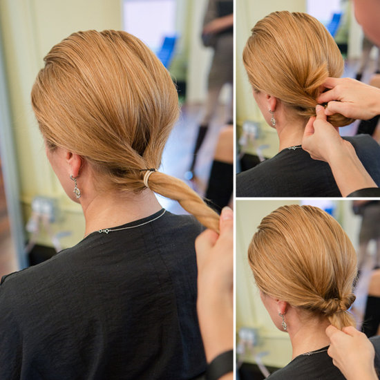 inside out ponytail with styler