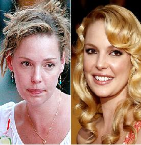 Katherine Heigl without Make up