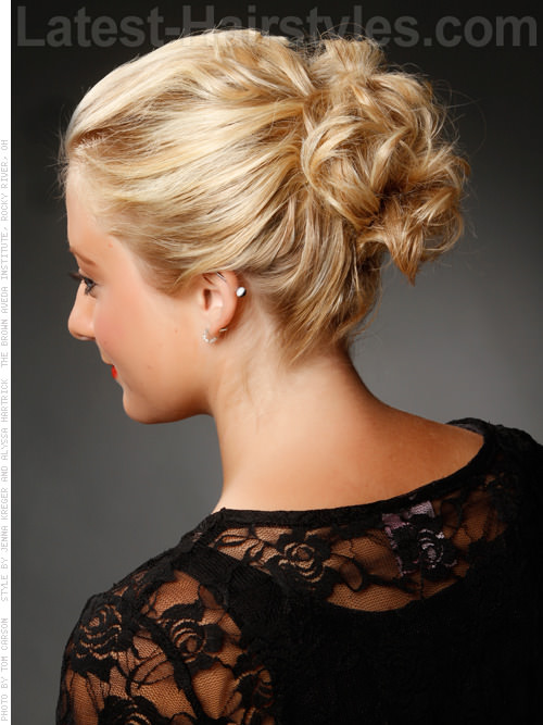 romantic looped curl updo