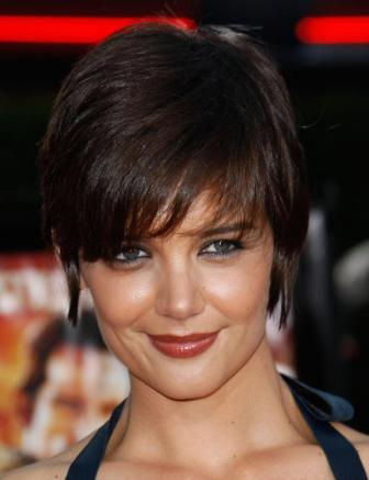 Katie Holmes Pixie  on Long Pixie Hairstyle Victoria Beckham Hair Zimbio