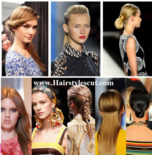 collection of spring hairstyles from the runway shows