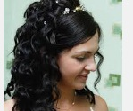 super long curls style for wedding