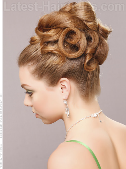 twisted coiled updo